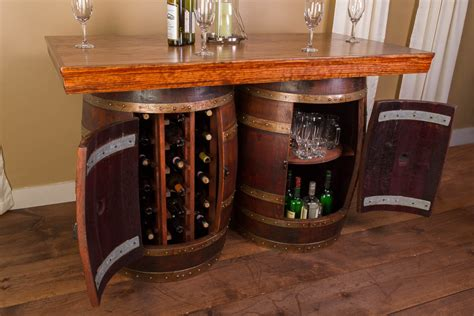 wine barrel bar stools wholesale wine barrel bar island set napa east collection