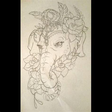 tattoo elephant sketch a sketch for one of fridays tattoos tattoo tat tat