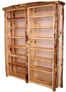furniture and more this is a stunning rustic aspen log bookcase the