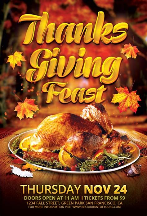 thanksgiving flyers free templates top 25 autumn flyer templates collection for