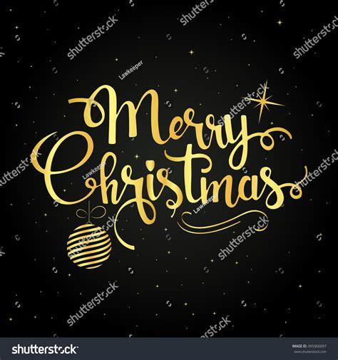 merry christmas modern merry christmas golden handwritten lettering modern