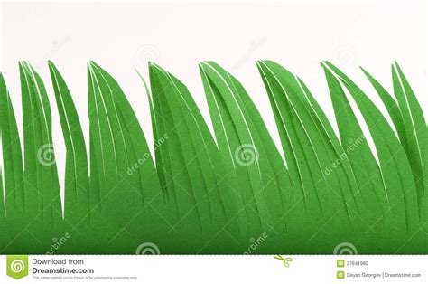 Paper Grass - grass made of paper stock photo image 27841980
