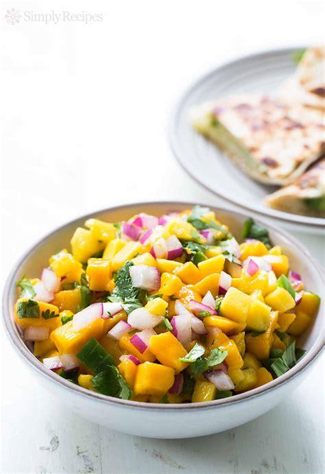 mango recipe mango salsa recipe dishmaps