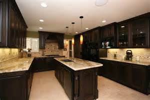 Dark Kitchen Cabinets With Light Countertops by Dark Cabinets With Light Countertops Kitchen Pinterest