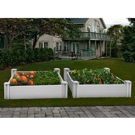 costco raised bed white vinyl raised garden bed 2 pk costco pinterest
