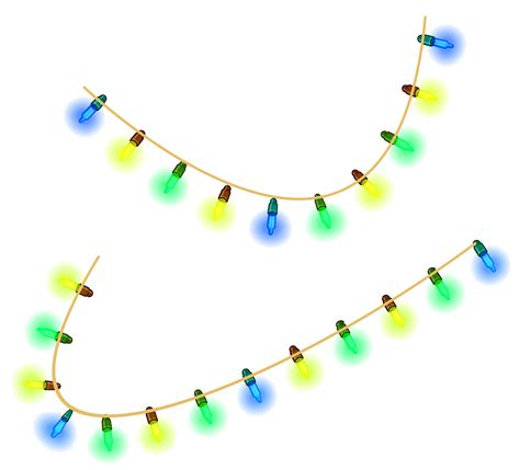 christmas lights clipart transparent background pencil