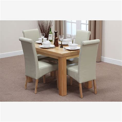 solid oak dining table and 6 leather chairs fresco 4ft solid oak dining table 4 leather scroll