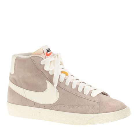 Nike Blazer High lyst j crew preorder nike blazer high suede vintage sneakers in gray