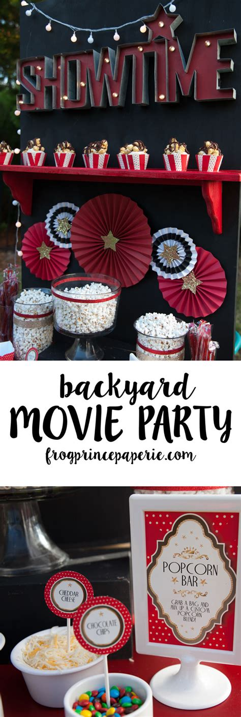 backyard movie party backyard movie party and popcorn bar ideas