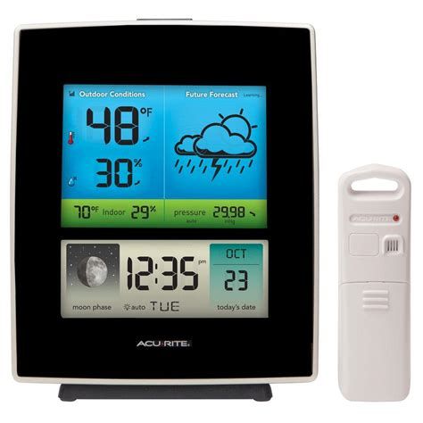 acurite weather forecaster with color display 02030m the