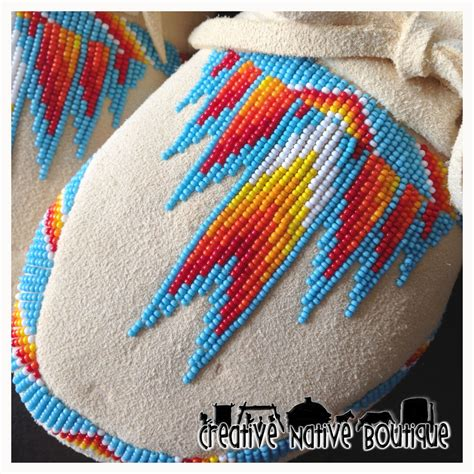 moccasin beading designs creative boutique partially beaded s moccasins