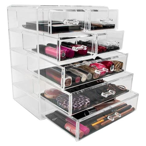sorbus makeup storage set large display stackable and detachable drawers large makeup organizers with drawers saubhaya makeup