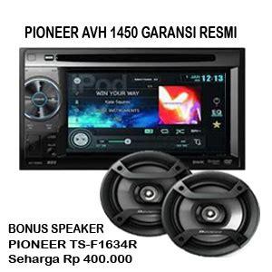 audio mobil pioneer avh 1450dvd pioneer avh 1450dvd garansi resmi din tv mobil