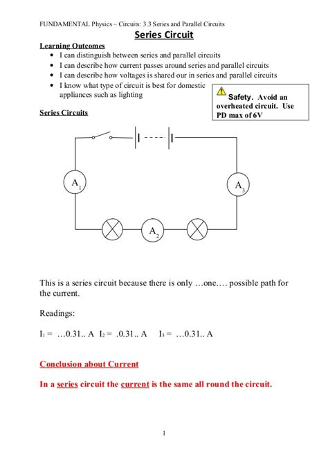 series parallel circuits lab report 3 3 series and parallel circuits notes