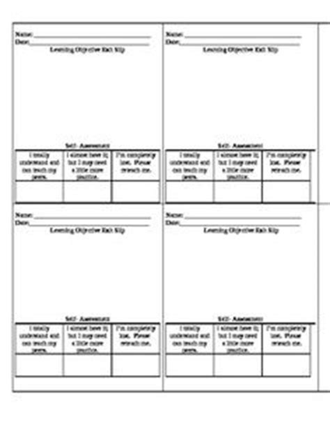 student learning objective template 1000 ideas about student self assessment on