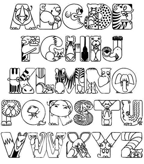 Printable Alphabet Coloring Sheets For Preschoolers Alphabet Coloring Pages A Z Pdf