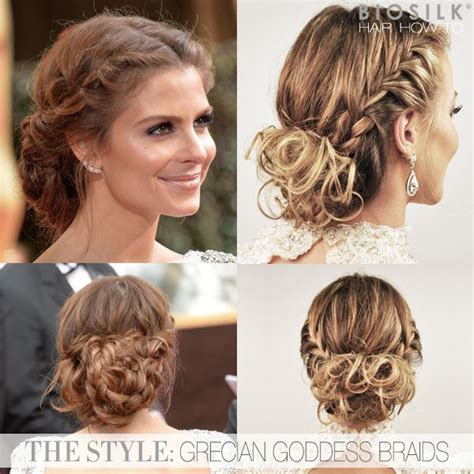 grecian hairstyles for prom hair how to maria menounos grecian goddess braided updo