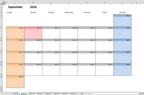 monthly planner template excel printable monthly calendar template for excel excel