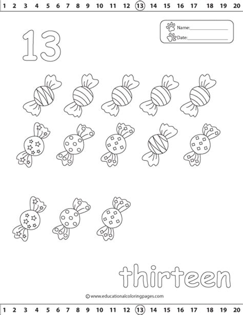 coloring pages for the number 13 counting 1 20 coloring pages