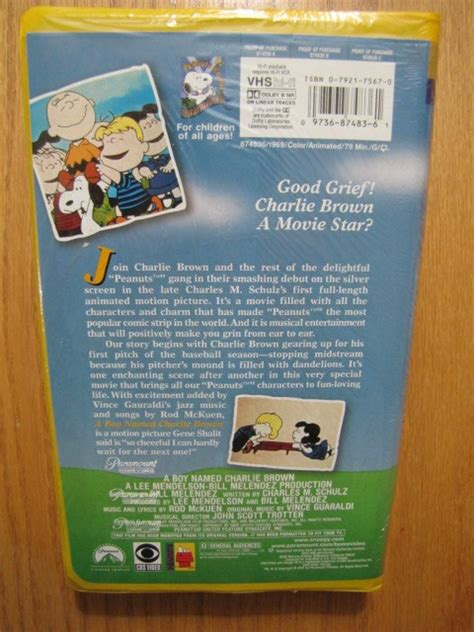 peanuts family favorites a boy named brown vhs