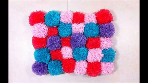 como hacer una alfombra de pompones tutorial diy youtube