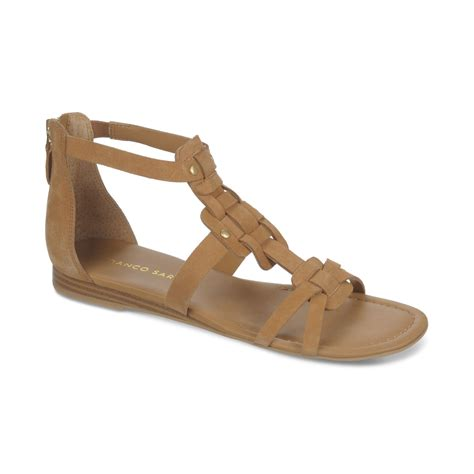 franco sarto sandals franco sarto glare mini wedge gladiator sandals in beige