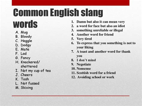 section 8 slang the online slang dictionary word list b the online slang
