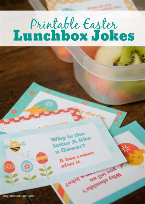printable easter lunch box jokes free printable easter spring lunch box jokes pepper scraps