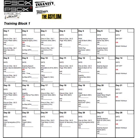 P90x2 Worksheets by Search Results For Beachbody P90x Insanity Hybrid
