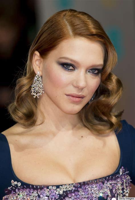 lea seydoux eyes celebrities in smoldering eye makeup top this week s best