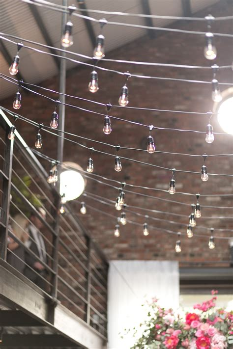 String Lights In Loft Wedding Elizabeth Anne Designs String Lights Nyc