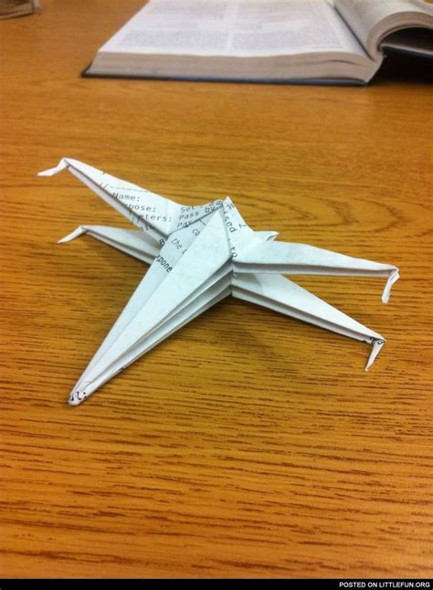 X Wing Fighter Origami - littlefun x wing fighter origami
