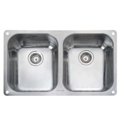 double bowl kitchen sinks atlantic double bowl undermount kitchen sink