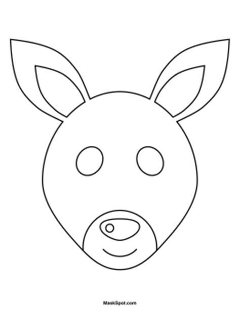 emu mask template printable printable kangaroo mask to color co op ideas pinterest
