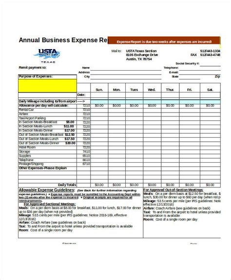 23 exles of expense reports