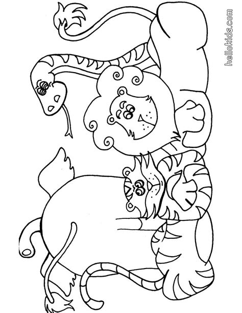 Animal Safari Coloring Pages by Coloring Pages Of Safari Animals Printable Coloring Page