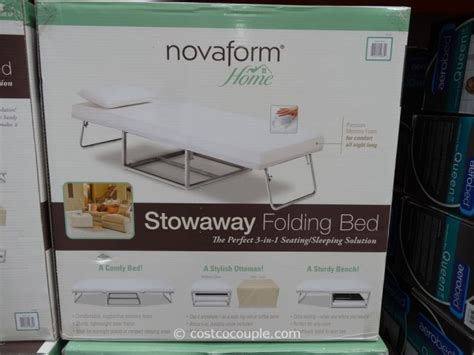 folding bed ottoman costco novaform stowaway folding bed