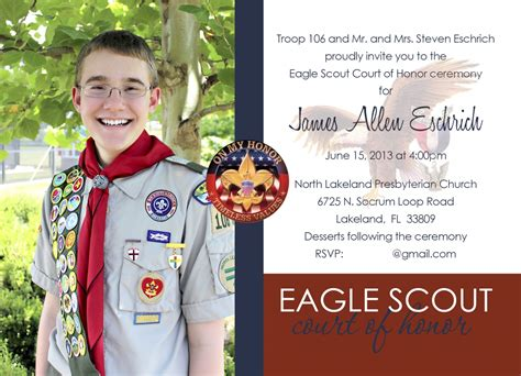 Eagle Scout Court Of Honor Invitation Gilmore Studios Gilmore Studios Wedding Family Eagle Scout Announcement Templates
