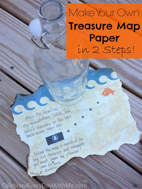 How To Make A Paper Map - how to make treasure map paper in 2 steps celebrate