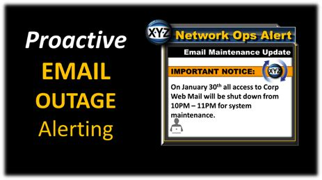 Email Outage Communication Email Outage Notification Solutions Instant Notification Of Email Outage Communication Template