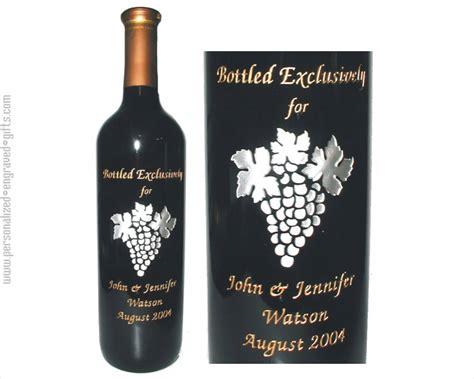 engraved on engraved wine bottles for anniversaries weddings