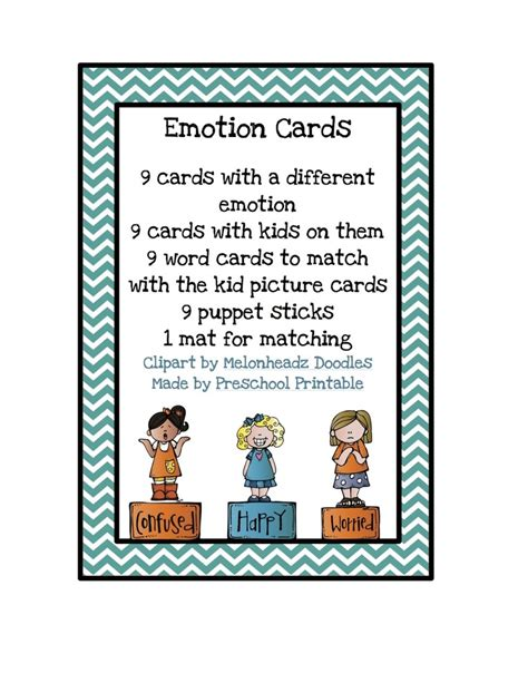 printable preschool postcards 17 best images about emotions on pinterest spirals