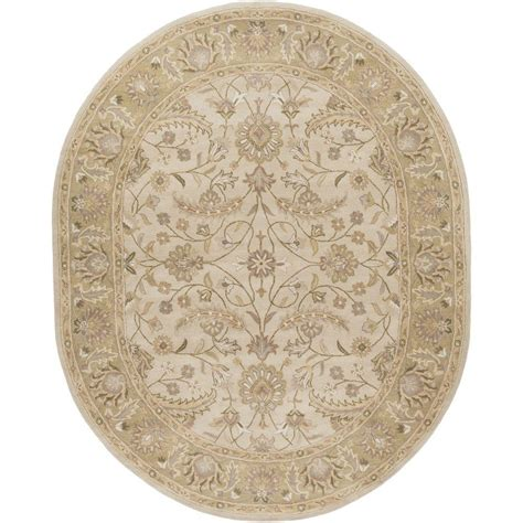 oval rugs artistic weavers charles beige 8 ft x 10 ft oval indoor area rug s00151007055 the home depot