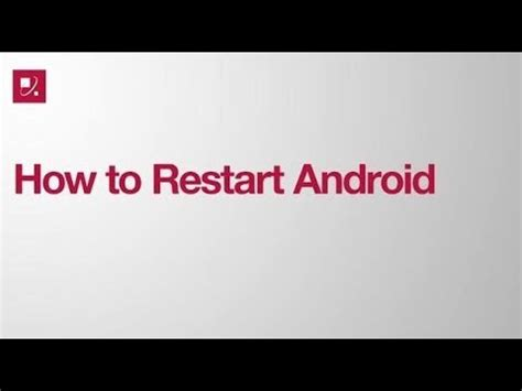 how to reboot android how to restart android