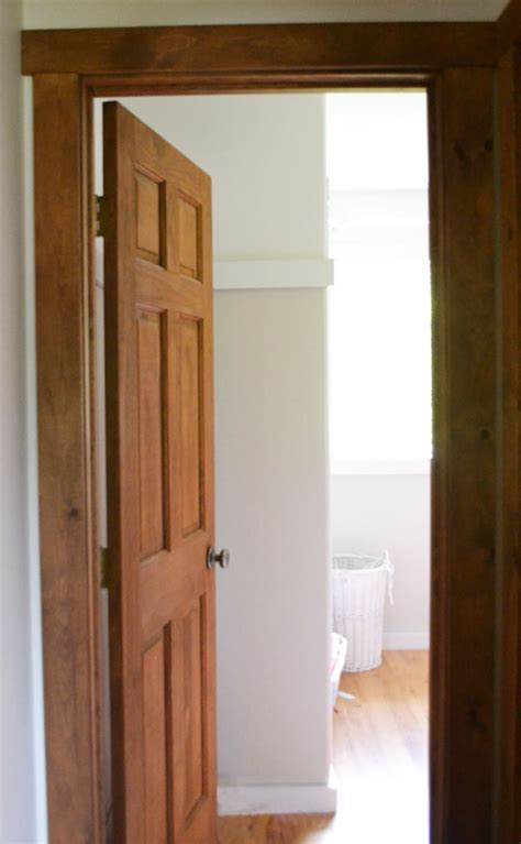 white wood trim and doors