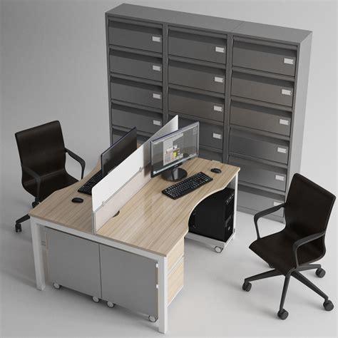office furniture 3d model max fbx cgtrader