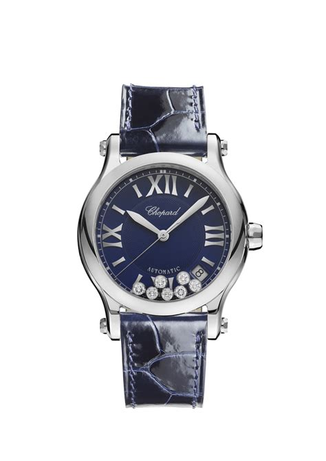 Chopard Buterfly Leather chopard happy sport 36 mm automatic stainless steel