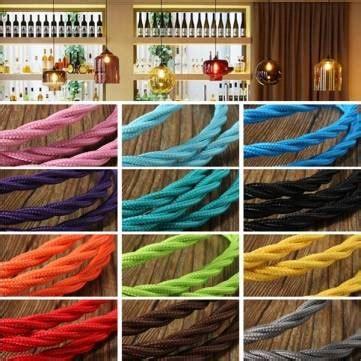 5m vintage colored diy twist braided fabric flex cable