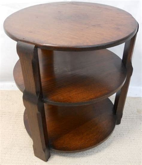 Bookcase Coffee Table Oak Three Tier Coffee Table Bookcase 174777 Sellingantiques Co Uk
