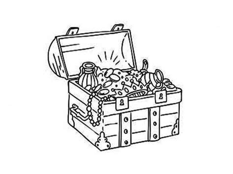 download coloring pages treasure chest coloring page